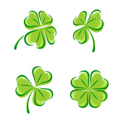 Leaf clover set. Vector