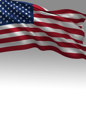 USA Flag, United States 3D Background (3D Render)