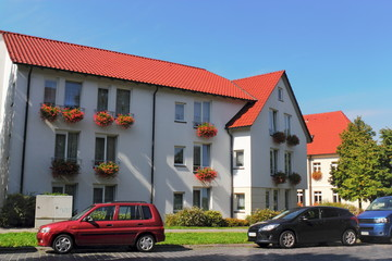 Sanierte Wohnhäuser