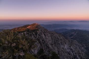 sunset Cucamonga Peak 7