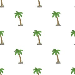 Palm tree icon in cartoon style isolated on white background. Brazil country symbol stock vector illustration.