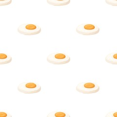 Fried eggs with yolk.Burgers and ingredients single icon in cartoon style vector symbol stock illustration.
