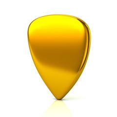 Golden guitar pick