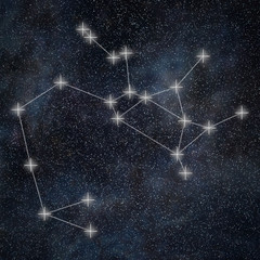 Sagittarius Constellation. Zodiac Sign Sagittarius constellation lines Galaxy background