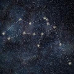 Aquarius Constellation. Zodiac Sign Aquarius constellation lines Galaxy background