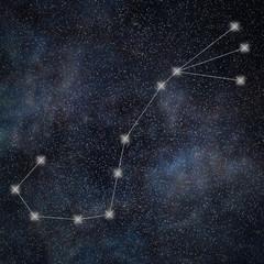 Scorpio Constellation. Zodiac Sign Scorpio constellation lines Galaxy background