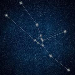 Taurus Constellation. Zodiac Sign Taurus Constellation lines  Galaxy background