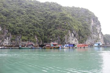 fishing village on the sea, vietnam