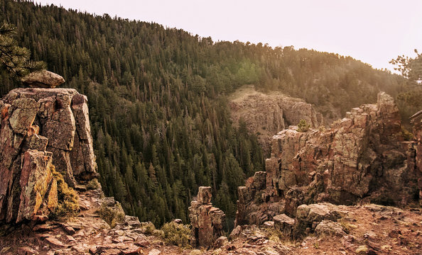 Lookout Point on Casper Mountain, Wyoming