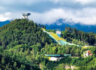 Innsbruck, Blick auf die Bergiselschanze