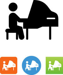 Grand Piano Icon - Illustration