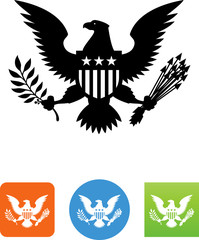 Great Seal Of The United States Icon - Illustration