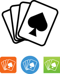 Hand Of Cards With Spade Icon