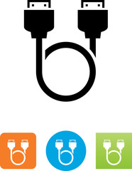 HDMI To HDMI Cable Loop Icon - Illustration