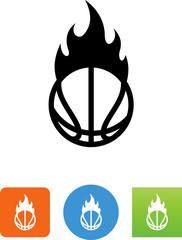 Hoops On Fire Icon - Illustration