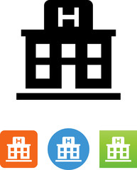 Hospital Building Icon - Illustration