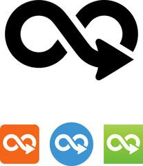 Infinity Arrow Icon - Illustration