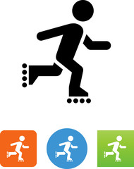 Inline Skater Icon - Illustration