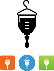 Intravenous Bag Icon - Illustration