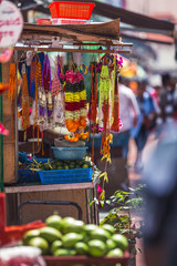Stall selling garlands on the street