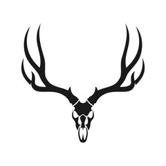 deer head skull. vector logo