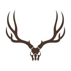 deer head skull. vector logo