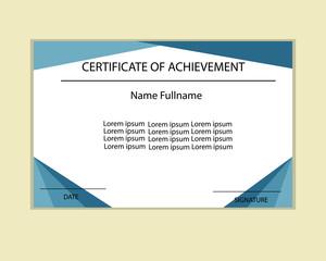 Certificate template vector.