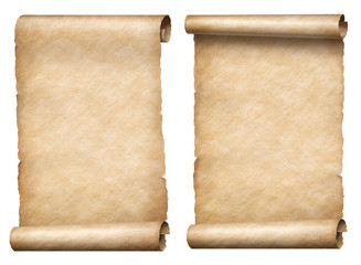 Wall Mural - old paper scrolls or parchments 3d illustration set