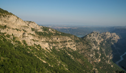 Scenic Verdon gorge in Provence region of France