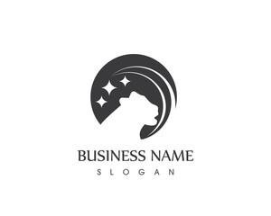 Stars Panther Head Logo Design