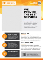 Flyer template, Brochures, Pamphlet, abstract background for professional, company, agency, coorporate in A4 Size Style 9