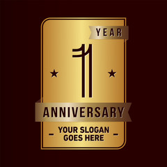 1 year anniversary design template. Vector and illustration.