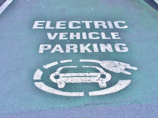 Electric vehicle parking space in Dublin, Ireland.