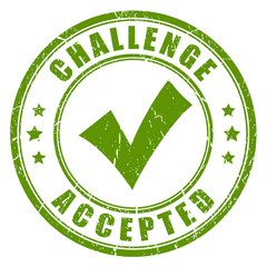 Challenge accepted rubber stamp