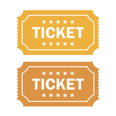 Old cinema ticket vector illustration