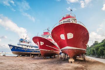 The ships in the shipyard