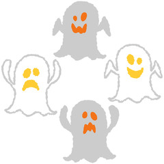 simple and cute halloween vector icons