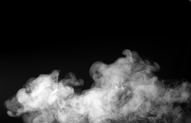 Texture of White Smoke on a black background