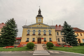 The town hall in Babimost, Poland
