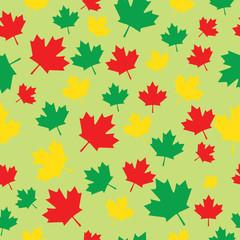 Seamless pattern maple