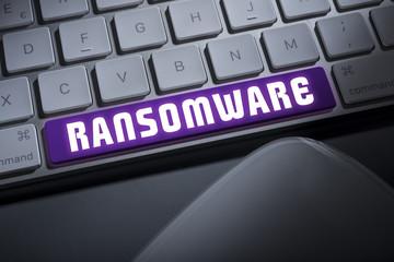 Ransomware keyboard button