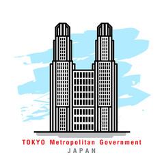 Illustrator of Tokyo Metropolitan Goverment. Vector Illustration