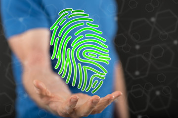 Concept of fingerprint security system