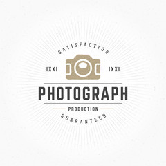 Photographer Design Element in Vintage Style for Logotype