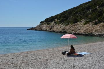 Lubenice Beach near blue grotte