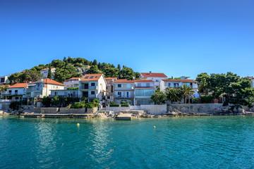 Mediterranean coast landscape in Dalmatia. Kornati islands:SIBENIK,CROATIA,May 28,2017