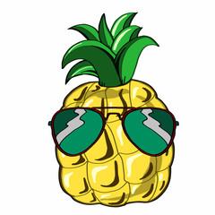 Pineapple wearing glasses