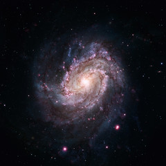 Messier 83 is a barred spiral galaxy in the constellation Hydra. Elements of this Image Furnished by NASA
