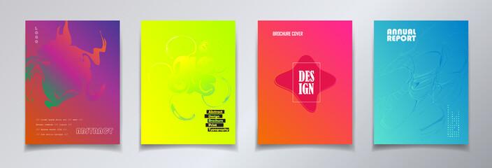 Brochure, magazine, headline, cover layout. minimalist style. Vector template. Exhibition Modern ART catalog design.