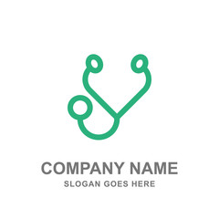 Stethoscope Doctor Hospital Medical Healthcare Logo Vector Business Template